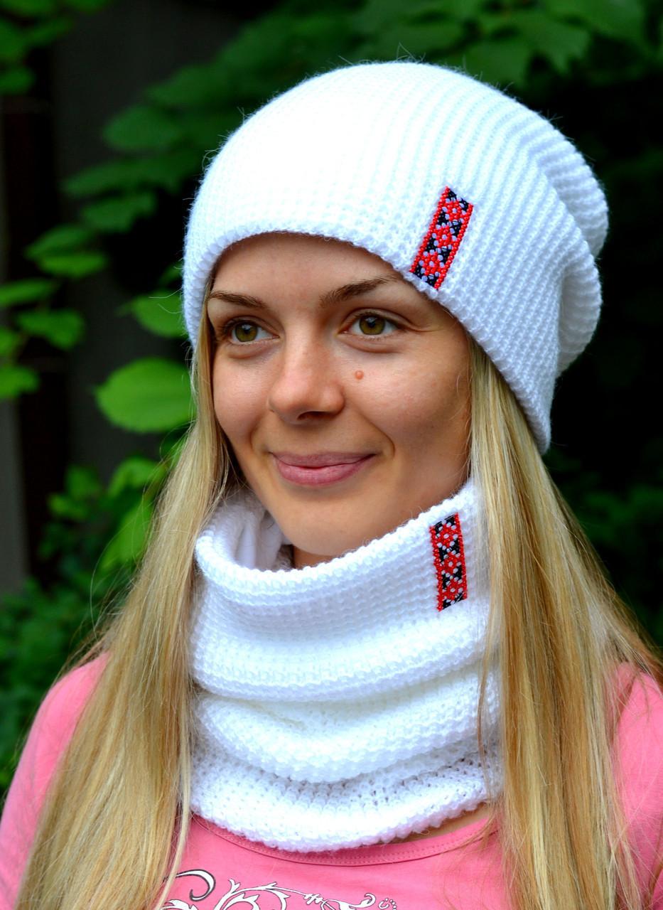 Комплект шапка и шарф Фридом (зима)