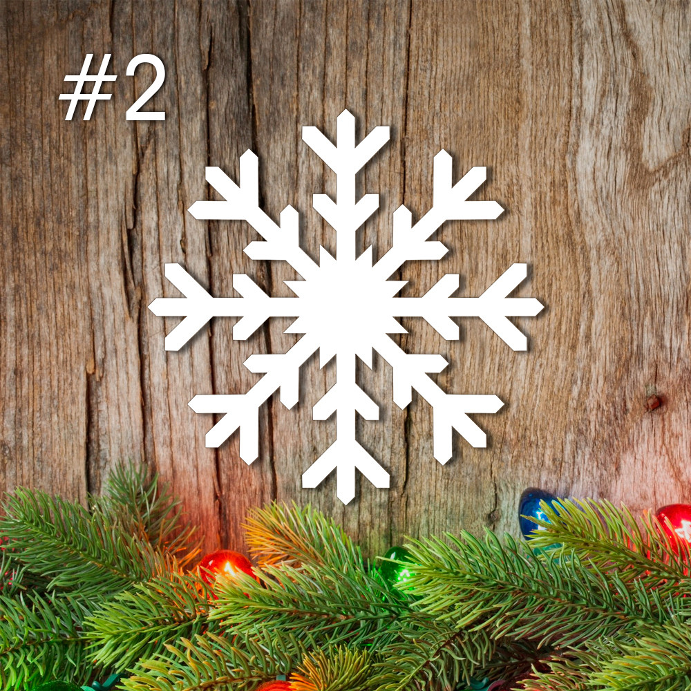 Снежинка из пенопласта №2 15см*2см