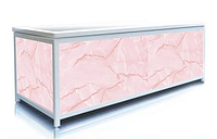 Экран под ванну 140 см, розовый мрамор, пластиковый каркас