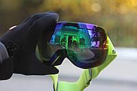 Безрамкова дзеркальна гірськолижна маска SPN  (подвійна лінза,антифог, UW400)