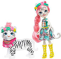 Кукла Enchantimals Тэдли и Китти белый тигр