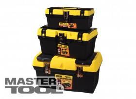 """MasterTool  Ящик для инструмента 16"""" (405*225*205 мм) металлические замки, Арт.: 79-2039"""
