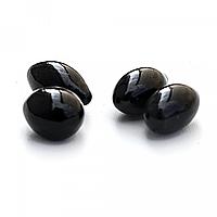 Черные декоративные камни к биокаминам Округлые