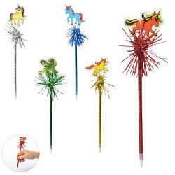 Ручка шариковая, синяя, единорог, 6 цветов/микс видов, 26см, MK2446-12