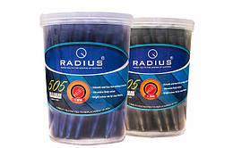 Ручка шариковая, черная, 1,00мм, ТМ Radius, 505черн