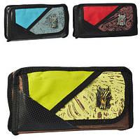 Пенал 22*10см, застежка-молния, 1 наружный карман, 3 цвета, MK3168