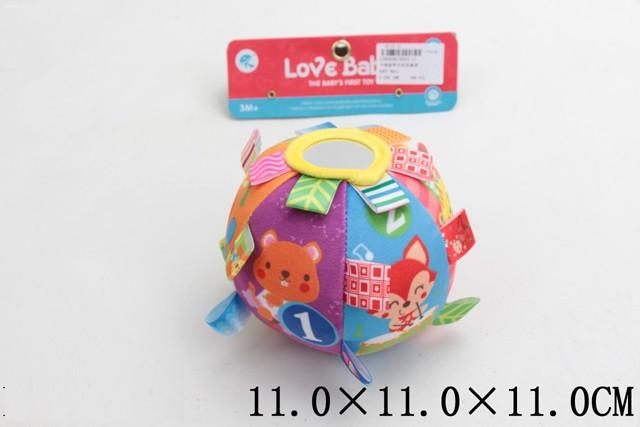 Погремушка мягкая тактильная, мячик с погремушкой, B565-C1