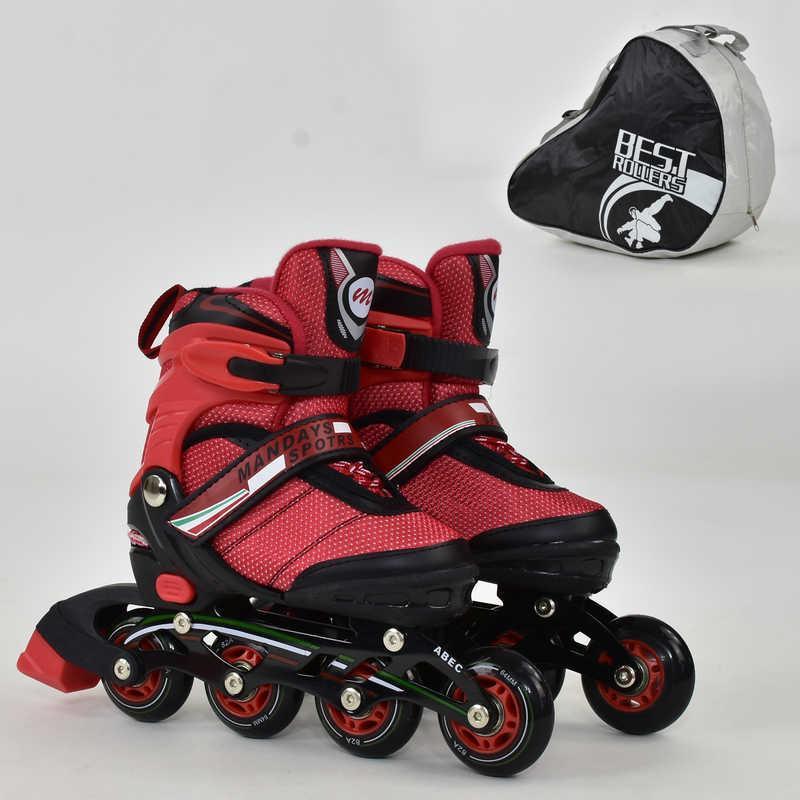 Ролики Best Roller, колеса PU, d=6,4см, алюминевая рама, подшипник АВЕС-7, красные, 8901S(31-34)
