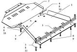 Защита картера двигателя Infiniti QX56  2004-, фото 5