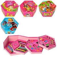 Набор для творчества MK 0485  - 4 яруса, фломастеры, карандаши, краски