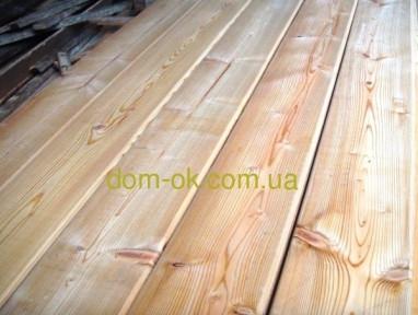 Палубная доска из сибирской лиственницы 140х27 мм сорт Эк