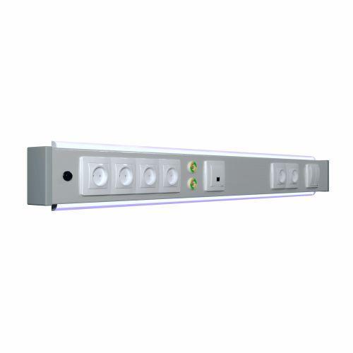 Панель прикроватная электрическая Медфлоу-03, одна секция, с нижней подсветкой Viola