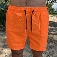 Плавательные Шорты Moncler Logo Neon Orange