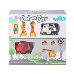 Набор игровой, машинка, инерционные, фигурка, дорожные знаки, 933-62