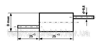 Конденсатор  К74-7 390пФ 16кВ