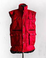 Жилет Garment Factory утепленный стеганый на молнии удлиненный унисекс красный 58 размер