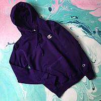 Худи Champion ( Размеры S,M,L,XL,XXL ) фиолетовая Толстовка