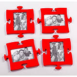 Фоторамка-пазл Руноко Красного цвета, фото 4