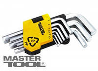 MasterTool  Ключи шестигранные набор 9 шт CrV короткие(1,5-10мм L45-112мм), Арт.: 75-0955