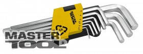 MasterTool  Ключи шестигранные набор 9 шт CrV удлиненные(1,5-10мм L74-172мм), Арт.: 75-0956