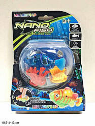 """Игрушка-рыба """"NANO FISH"""", в аквариуме, свет, JH6616"""