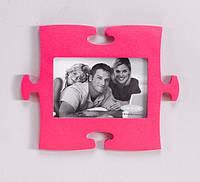 Фоторамка-пазл розового цвета, фото 1