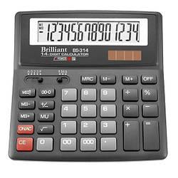 Калькулятор  Brilliant, 14  разрядов, 2-питания, BS-314
