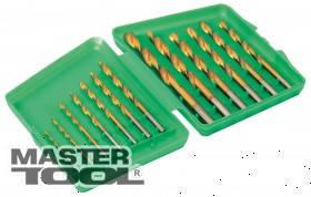 MasterTool  Набор сверл для металла, 13 шт HSS титан(1,5 - 6,5 мм) в пластиковой коробке, Арт.: 11-1305