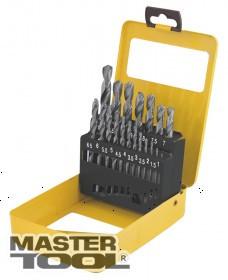 MasterTool  Набор сверл для металла, 19 шт HSS белые(1-10 мм, шаг 0,5 мм) в металлической коробке, Арт.: 11-0119