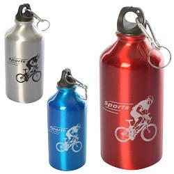Бутылочка спортивная, 500мл, алюминий, 3 цвета, MS1833