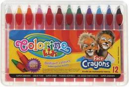 Мел для лица, карандаши, 12 цветов, COLORINO, 32650PTR