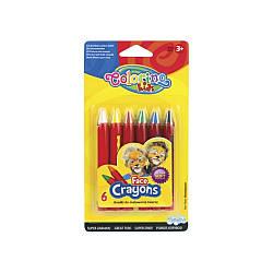 Мел для лица, карандаши, 6 цветов,. COLORINO, 32629PTR