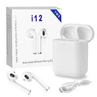 Беспроводные I12 TWS Bluetooth сенсорные стерео наушники