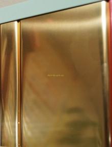Реечный подвесной потолок, золото-зеркало С-2