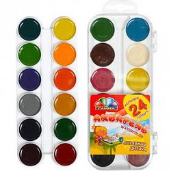 Акварель медовая, 24 цвета, без кисточки, Гамма, 312060