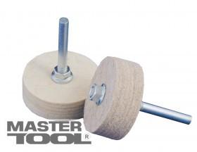 MasterTool  Насадка на дрель войлочная наборная влагостойкая грубошерстная 70*35*10 мм, Арт.: 08-5870