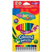 Олівці кольорові з гумкою 12кол. COLORINO, 92531PTR