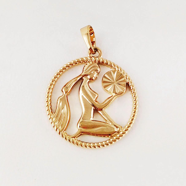"""Подвеска, знак зодиака Xuping Jewelry """"Дева"""" медицинское золото, позолота 18К"""