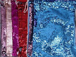 Сумка для обуви, пайетки двуцветные, голография, 6 цветов, 37*42см, 431-4