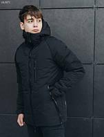 Куртка зимняя мужская ( Размеры M,L )Staff mil black тёплая чёрная