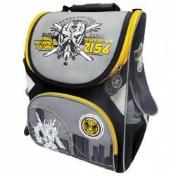 """Рюкзак-коробка """"Робот"""" 13,5'' 3 отделения, ортопедический, светоотражающие полоски, 1522-JO"""