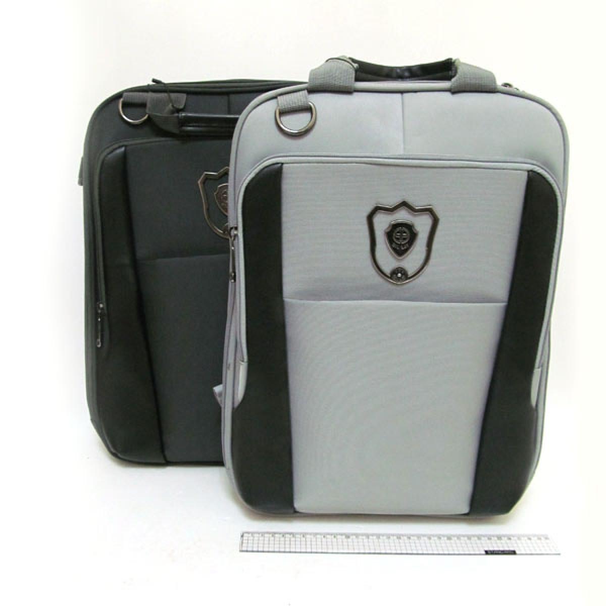 """Рюкзак-сумка """"Черный-Серый mix"""" отделение для ноутбука, органайзер, 3902-АB"""