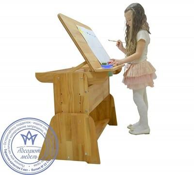 Детская парта мольберт растишка стол трансформер Абсолют Школярик С-490