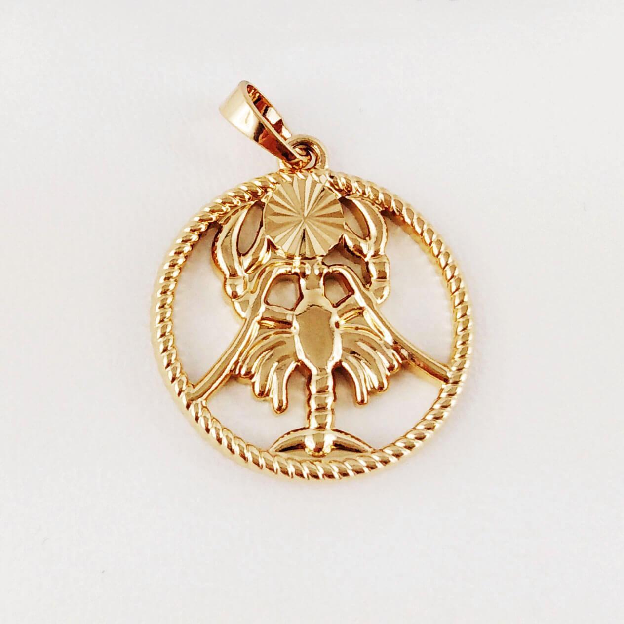 """Подвеска, знак зодиака Xuping Jewelry """"Рак"""" медицинское золото, позолота 18К"""
