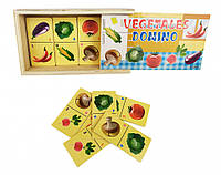 Деревянная игрушка Домино MD 2198 (Овощи)
