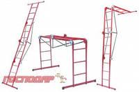 Господар  Лестница трансформер металлическая 4*4 ступени, h=1310-2330-4800 мм, max 150 кг, Арт.: 79-1024