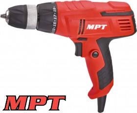 MPT  Дрель - шуруповерт 10 мм, 300 Вт, 750 об/мин, металл. самозажимной патрон, LED подсветка, Арт.: MED3006