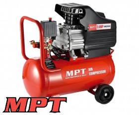 MPT  Компрессор PROFI 24 л, 1500 Вт/2 л.с., 2850 об/мин, 100 л/мин, 8 атм, 2 выхода, медная обмотка, Арт.: MAC20243
