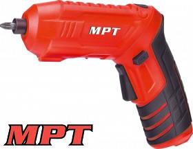 MPT  Отвертка аккумуляторная поворотная 4V, Li-ion,1.5 Ач,250 об/мин,3.5 Нм, реверс,USB, кейс, аксес.47шт, Арт.: MCSD4006.3