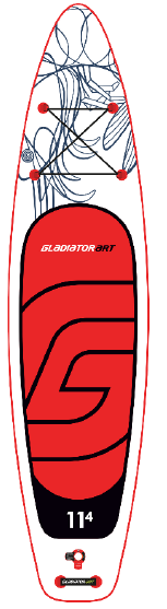 "SUP доска Gladiator ART11.4 SHRIMP, 11'4"" x 31' x 4,75', 26psi, 2020"